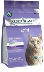 Arden Grange Adult Cat: light fresh chicken & potato - grain free 2 KG