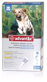 Advantix Spot On pes 10-25kg - VLP