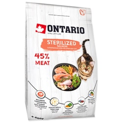 ONTARIO Cat Sterilised Salmon (0,4kg)
